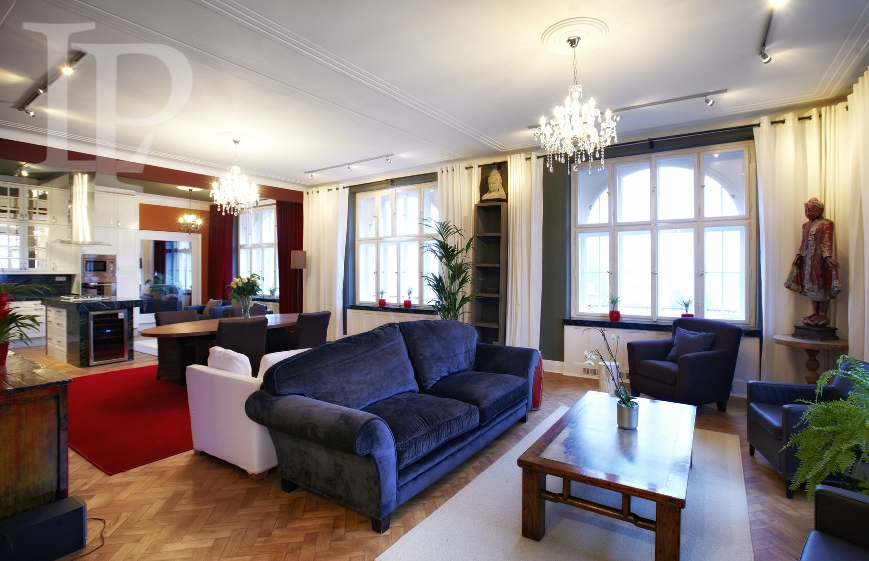 Luxuriously representative penthouse with a terrace, Prague 1, 550 m2