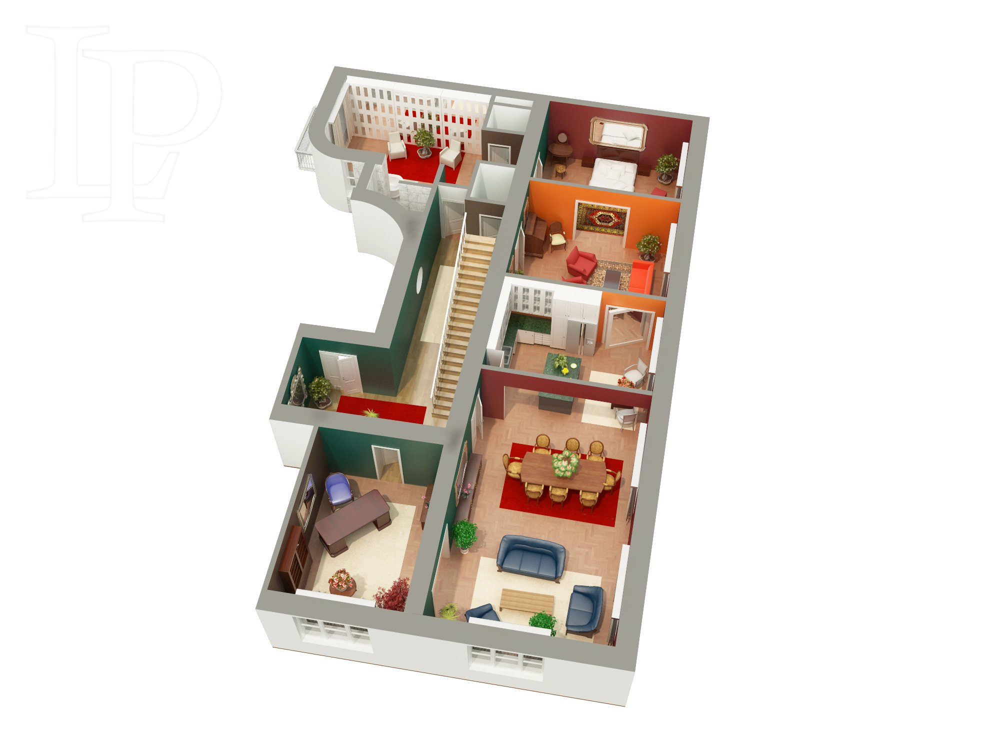 Nadstandartně reprezentativní penthouse s terasou, Praha 1,  550 m2
