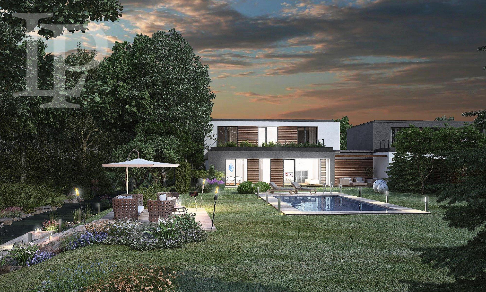 Luxusní nízkoenergetická vila uprostřed přírody s vlastní zahradou