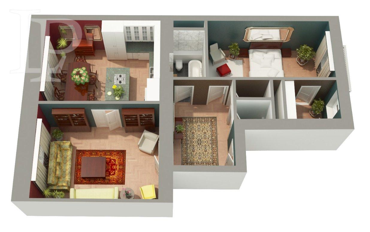 Luxusní apartmán s balkonem a výhledem na Pražský Hrad, 94 m2