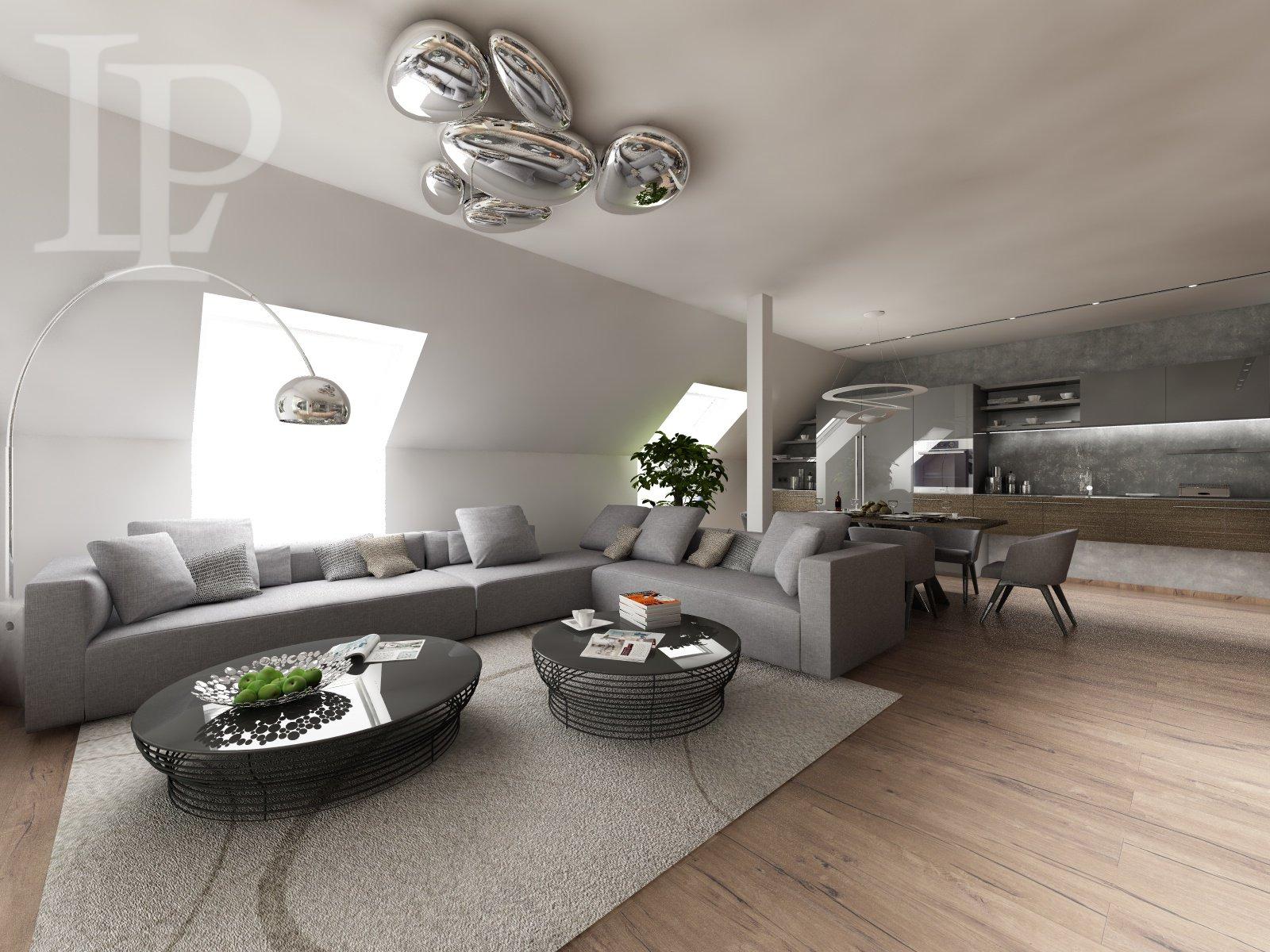 Luxusní mezonet s terasou přímo u metra v Rezidenci Palmovka, 5+kk, 163 m2+ 20 m2