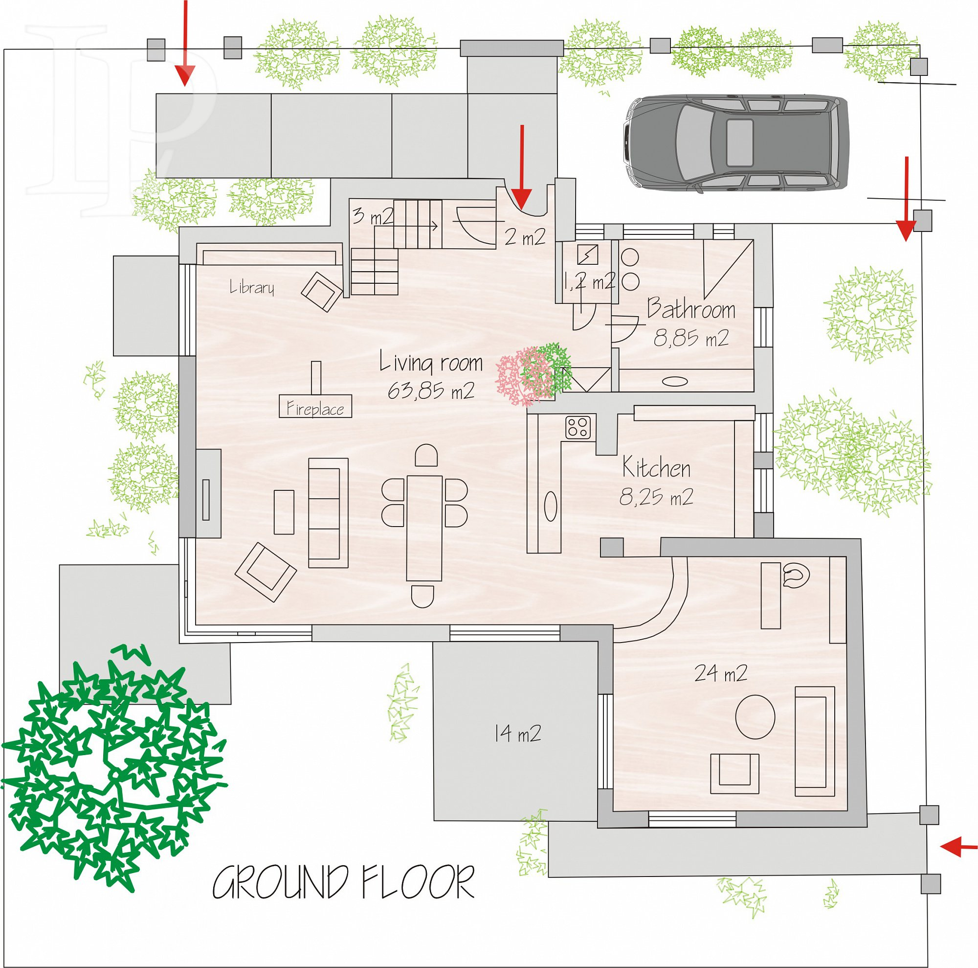 Pronájem luxusního RD 260 m² s pozemkem 629 m², Praha 4 - Záběhlice