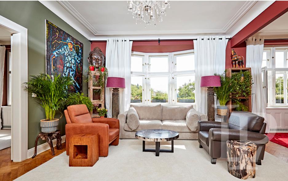 Luxusní apartmán, 2 ložnice, na nábřeží, 128 m2, Praha 2