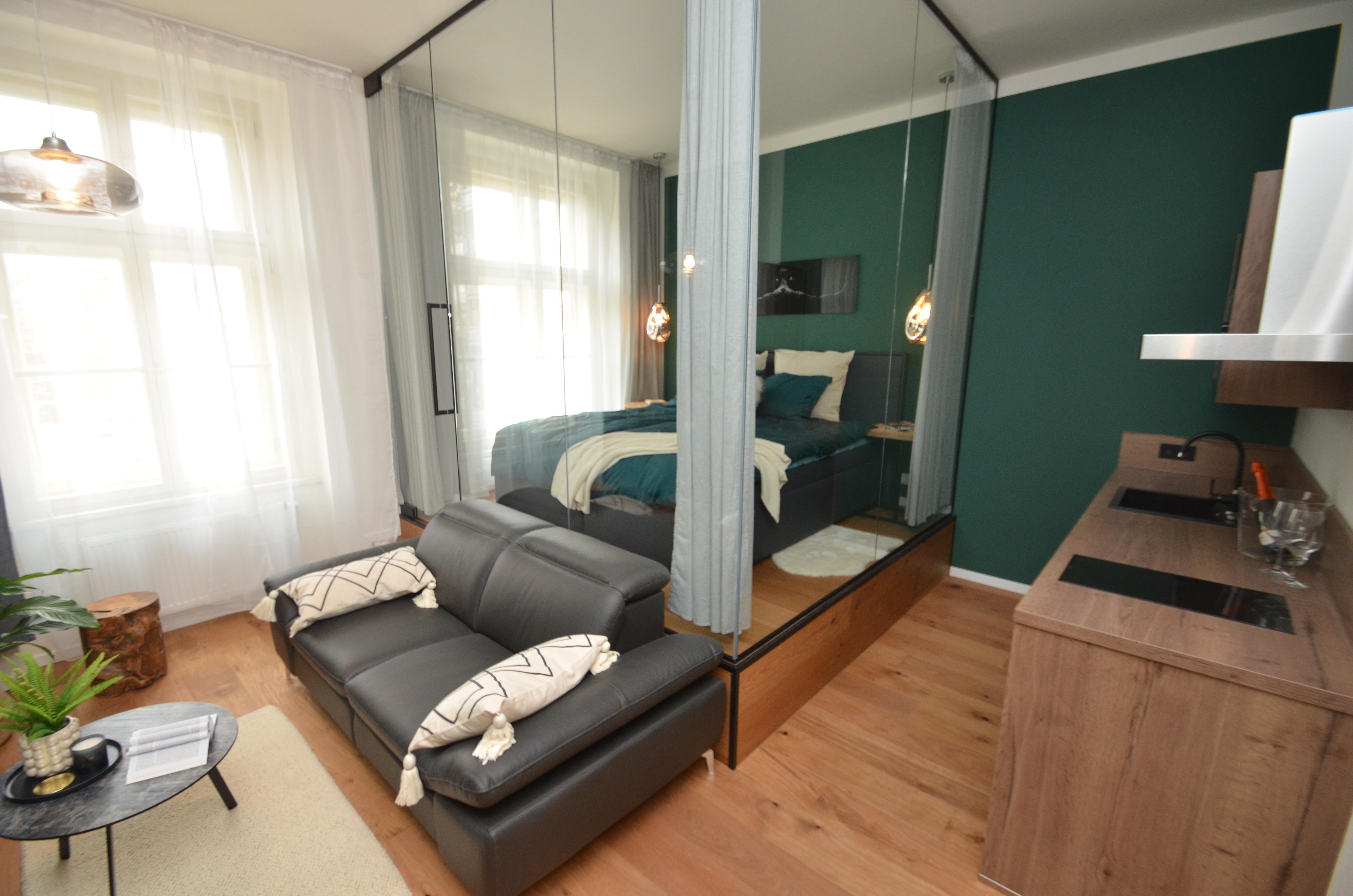 Luxusní bydlení v srdci Karlína s balkonem, 1+kk, 33,8m2